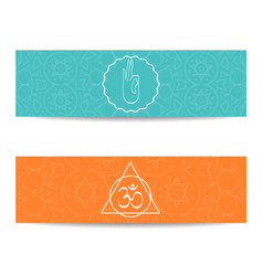 Yoga class and studio template banner vector