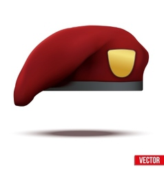 maroon Military Red Beret Army Special Forces vector image vector image