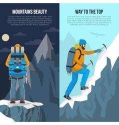 Mountaineering Flat Banner vector image vector image
