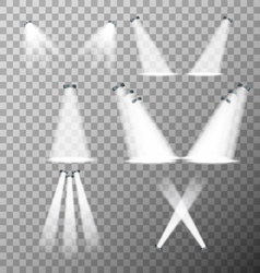 Set of stage lights vector image