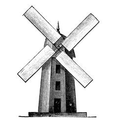 Windmill vintage engraving vector image vector image