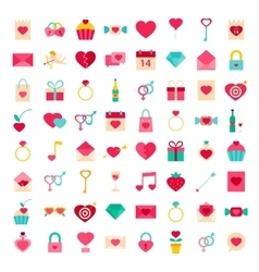 Big Set Valentines Day Objects vector image vector image