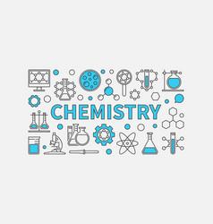 Chemistry creative modern background vector