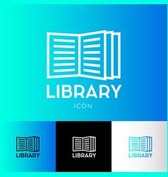 Icon library electronic library logo vector