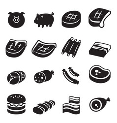 pork icon vector image