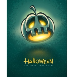 terrible jack-o-lantern head vector image