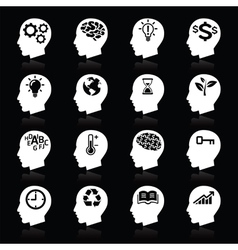 Thinking Head Icons vector image vector image