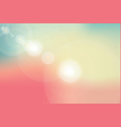 abstract background or nature sky and flare light vector image vector image