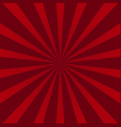 abstract background with red sun rays vector image