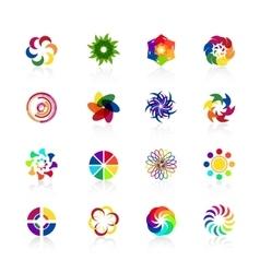 Circular logo shapes vector image