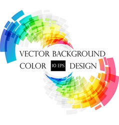 Colored abstract frame on white vector image vector image