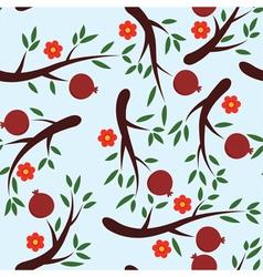 pomegranate background vector image