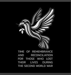 remembrance day logo icon design vector image