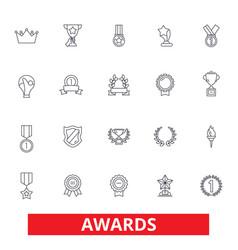 awards trophy certificate winner ceremony vector image