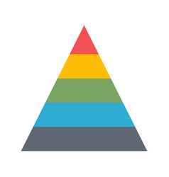 chart pyramid flat icon vector image vector image