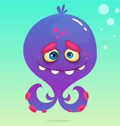 Cute cartoon octopus vector image