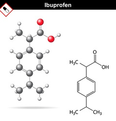 Ibuprofen molecular chemical structure vector image