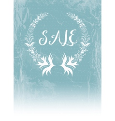 Laurel Wreath and Sale vector image vector image