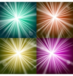 Lights and flashes vector image vector image