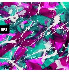 Purple bright watercolor and guache splatters vector image vector image