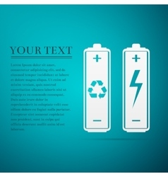 Recycled Battery Eco Concept Renewable Energy vector image vector image
