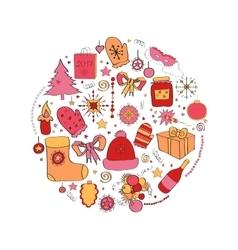 set Christmas symbols the vector image
