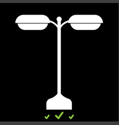 street light or lamp it is white icon vector image