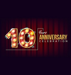10 years anniversary banner ten tenth vector