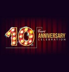 10 years anniversary banner ten tenth vector image