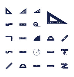 22 ruler icons vector