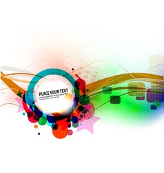 abstract colorful banner design vector image