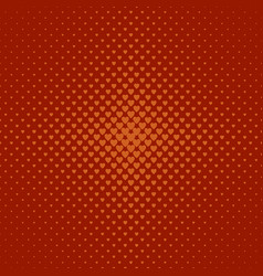 Abstract halftone heart pattern background - vector