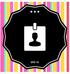 badge symbol icon vector image