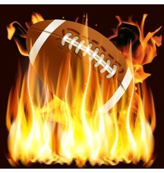 ball for American football in the fire vector image
