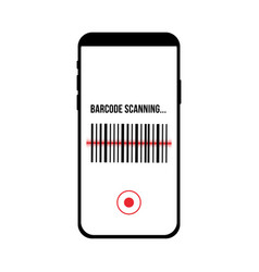 barcode scanning app application smartphone vector image