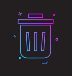 bin dustbin full garbage recycle trash icon design vector image