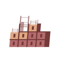 block of flats vector image