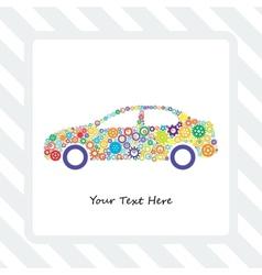 Card of the Car Gears vector
