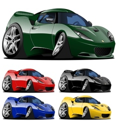 cartoon car one click repaint vector image