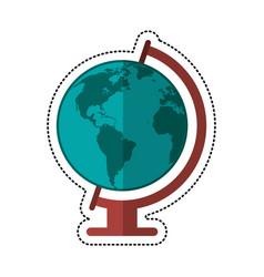 cartoon globe world map icon vector image