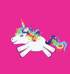 Cartoon little unicorn vector