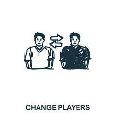 change players icon mobile apps printing and vector image