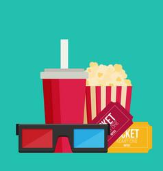 Cinema design in flat style vector