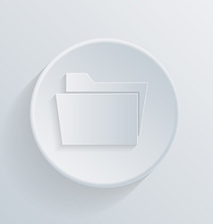 Circle icon folder for documents vector