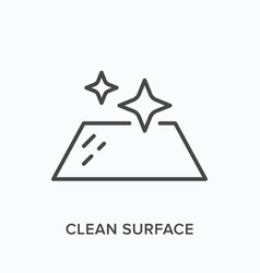 Clean surface icon outline of vector