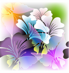 Colorful floral glowing spring summer vector