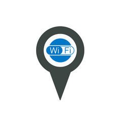 connect location marker pin pointer port usb icon vector image