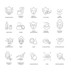Cosmetology beauty and spa procedure isolated vector