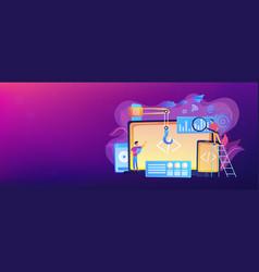 Cross-platform development concept banner header vector