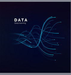 data visualization deep learning or big vector image